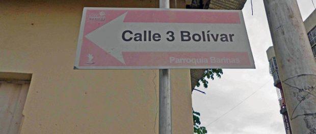 Calle Bolívar de Barinas. Antiguo camino real. Patrimonio cultural del estado Barinas, Venezuela.