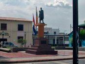 Plaza Bolívar de Aroa. Patrimonio cultural del estado Yaracuy, Venezuela.