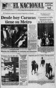 Metro de Caracas. 35 aniversario.