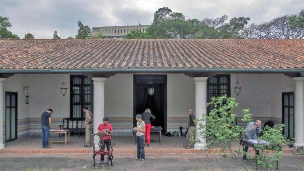 Taller-beca de fotogrametría en la Quinta de Anauco. Actividad organizada y financiada por IAM Venezuela y The Arc/k Project. Patrimonio cultural de Venezuela.