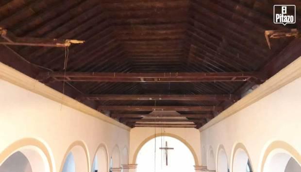Catedral de San Carlos. Vigas del techo
