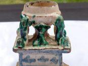 Salero del siglo XVII venezolano. Colección de cerámica del Museo de Arte Colonial de Caracas, o Quinta de Anauco. Patrimonio tangible de Venezuela.