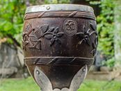 Coco chocolatero. Colección de arte colonial de la Quinta de Anauco o Museo de Arte Colonial de Caracas. Patrimonio cultural de Venezuela.