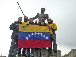 Monumento La Nacionalidad, encaramado en la Sierra Nevada de Mérida. Patrimonio cultural de Venezuela.