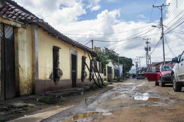 El sector Pantano Centro ha sido uno de los que más ha sufrido por las lluvias. Coro, Falcón. Foto Jesús Romero, octubre 2018. Patrimonio mundial en peligro. Venezuela.