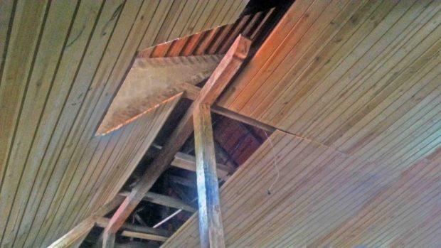 La Antigua Escuela de la Colonia Tovar presenta problemas estructurales por falta de mantenimiento. Monumento histórico nacional. Patrimonio arquitectónico de Venezuela en riesgo.
