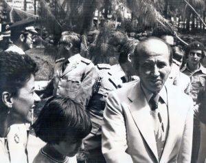 El presidente Carlos Andrés Pérez junto a Virginia Betancourt en la inauguración de la Sala Febres Cordero, noviembre 4 de 1978. Foto Colección Biblioteca Febres Cordero.
