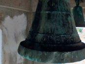 Campanas de Lobatera. María de Chiquinquirá, la campana más antigua que se conservaba en Lobatera la cual databa de 1839. Capilla del Humilladero. Fue robada en noviembre de 2018. Foto Darío Hurtado, 2016. Patrimonio cultural de Venezuela.