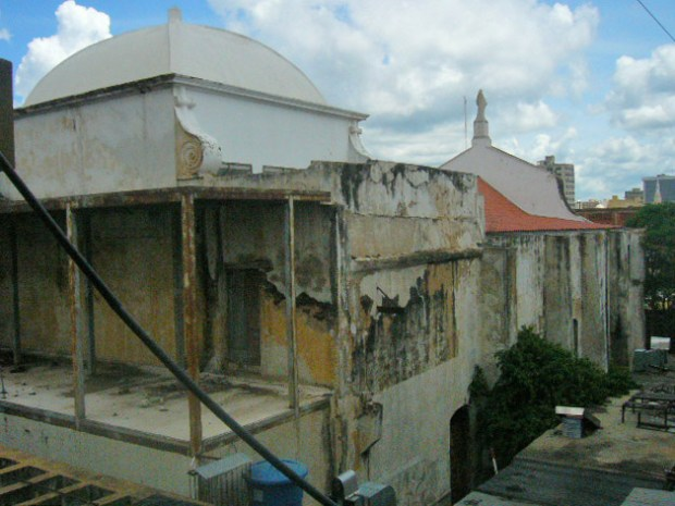 Una de las cúpulas del templo San Felipe Neri. Maracaibo, Zulia. Foto Wilmer Villalobos, octubre de 2018. Monumento Nacional, patrimonio cultural de Venezuela en peligro.