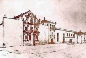 Convento de San Francisco, Caracas. Daguerrotipo. Foto José J. Lugo A. /Wikimedia Commons.