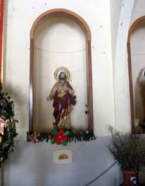 Imagen religiosa de la iglesia Nuestra Señora de Los Ángeles. Bruzual, Apure. Foto Marinela Araque, enero de 2019.