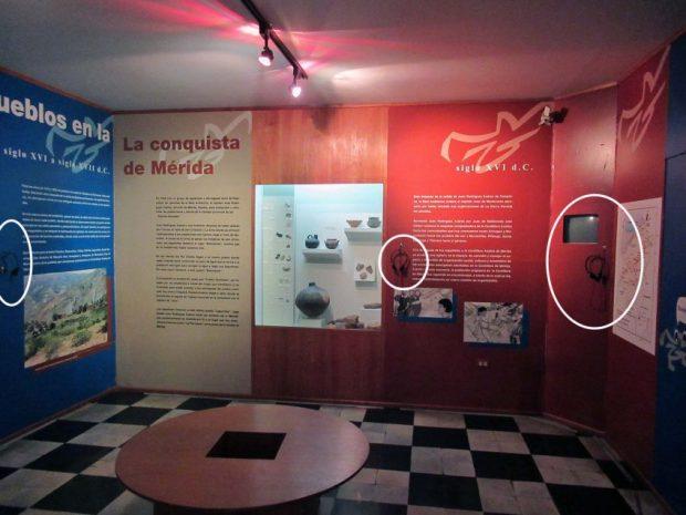 Parte del mobiliario sustraído del Museo Arqueológico de Mérida por los maleantes. Foto Samuel Hurtado Camargo, mayo 28 de 2018.