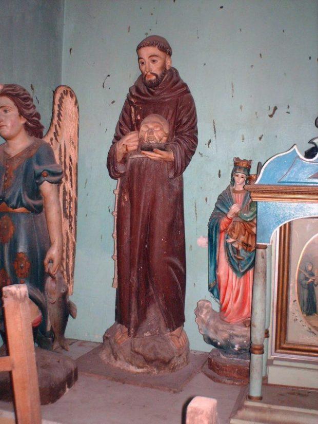 San Francisco de Asis (1182-1226). Talla policromada del siglo XVIII, de la Iglesia parroquial de Lobatera,
