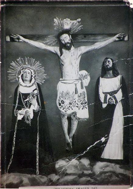 Santo Cristo de La Grita, primera imagen fotográfica tomada a la talla, por disposición de Mons. Jesús Jáuregui Moreno