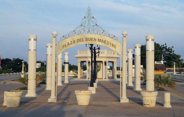 2012. Así lucía la plaza del Buen Maestro en 2012. Foto RJCastillo_Wikimedia Commons, 23 de noviembre de 2012.