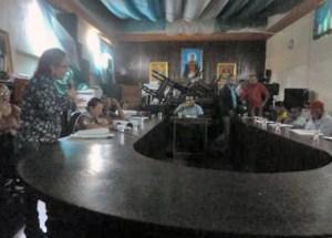 Derecho de palabra de Marinela Araque, en nombre de IAM Venezuela, en la sesion ordinaria del Concejo Municipal de Barinas. Foto Celsa Palencia, abril 2019.