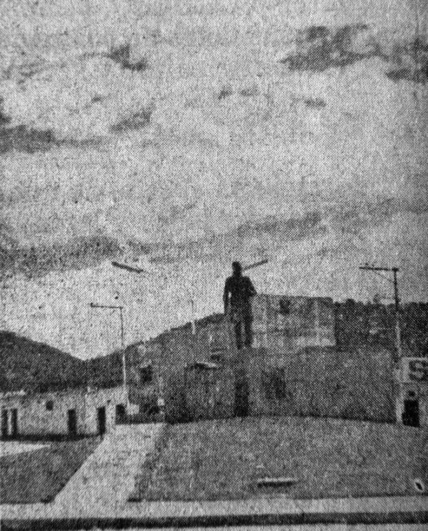 El monumento a Cristóbal Mendoza fue inaugurado el 24 de abril de 1971. Mérida, Venezuela. Foto diario El Vigilante, abril 24 de 1971. Dig. Samuel Hurtado Camargo.