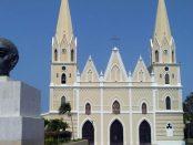 Frontis de la iglesia de San Rafael del Moján, municipio Mara estado Zulia. Foto Marinela Araque, marzo 2019.