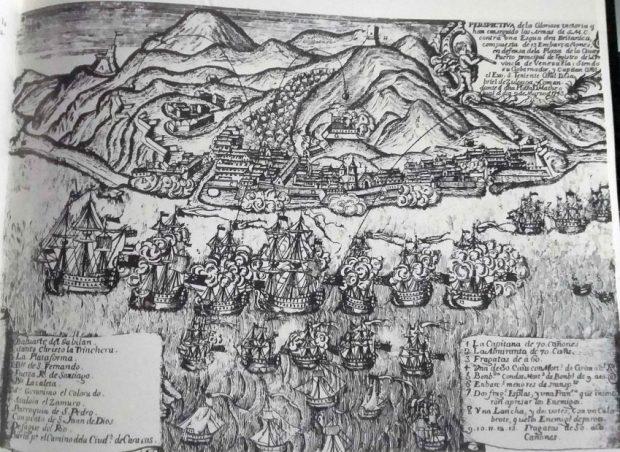 Puerto de La Guaira durante la colonia. Foto Graziano Gasparini de la Colección del Museo de Arte Colonial de Caracas.