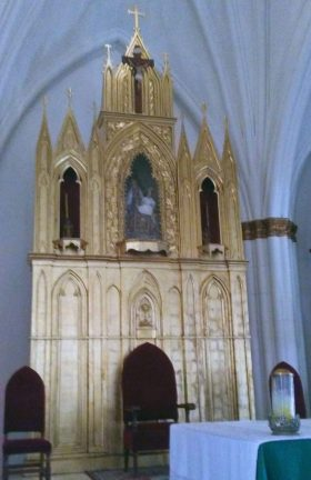 Retablo de la iglesia San Rafael, de El Moján. Municipio Mara, estado Zulia. Foto Marinela Araque, marzo 2019.