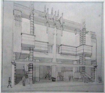 Proyecto para el Teatro Coliseo en el centro de Caracas, 1934. Foto Gasparini, Graziano y Posani, Juan Pedro, Caracas a través de su arquitectura, Armitano Editores.