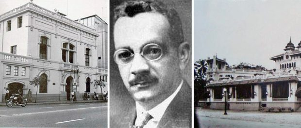 El arquitecto Alejandro Chataing y dos de sus obras emblemáticas.