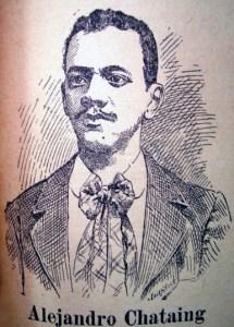 El joven Dr. Chataing de tan solo veinticuatro años. Grabado 1897, El Universal. Caracas, 1913.