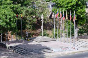 Entorno de Plaza Venezuela, Caracas. Foto Luis Chacín, mayo de 2019.