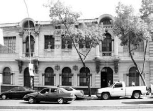 Fachada de la Academia de Bellas Artes, hoy Escuela Superior de Música José Ángel Lamas