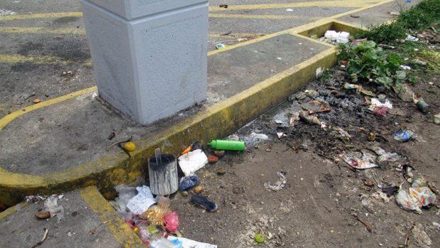 Los alrededores del monumento a Germán Briceño Ferrigni convertidos en basureros. Mérida, Venezuela. Foto Samuel Hurtado Camargo, marzo 27 de 2019.