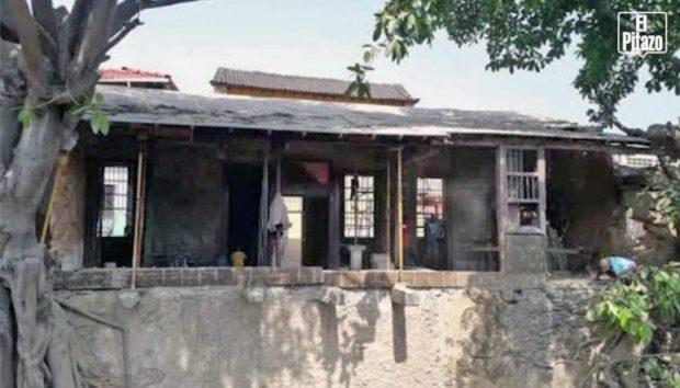 Paredes han sido derribadas en la casa de José María España, afectando su valor patrimonial. Foto Infociudadano L. Ortega