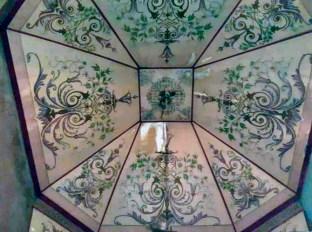 Filtraciones en la cúpula decorada de la iglesia Nuestra Señora del Rosario. Parroquia Casigua, mun. Mene Mauroa, Falcón. Foto Gabriel Mármol, julio 2019.