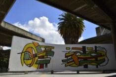 Bimural. Fernand Léger. Plaza Cubierta de la Ciudad Universitaria. Foto Xiomara González. Cortesía Archivo Copred