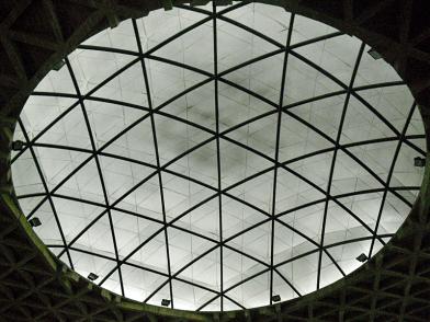 Cúpula del techo que forma parte del conjunto diseñado por el arquitecto Erasmo Galvani. Es una claraboya de 30 mts de diámetro que dan luz a la nave central. Foto: Mildred Maury.