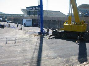 Trabajos de remodelación del estadio Nueva Esparta, ubicado en Porlamar, y mejor conocido como Guatamare. Foto: Ismael Granadillo