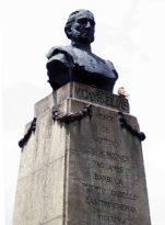 Busto de bronce de Campo Elías restaurado por Manuel de La Fuente, mayo 2017. Foto Samuel Hurtado Camargo