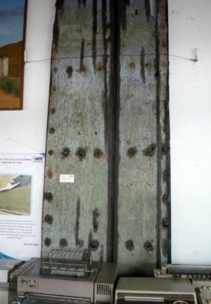 Esta es la otra parte de la puerta que está en el Museo Municipal de Barinas. Foto Marinela A. Año 2012