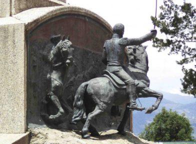 Relieve de la batalla de Mosquitero, restaurado. Foto Samuel Hurtado Camargo, mayo 2017.