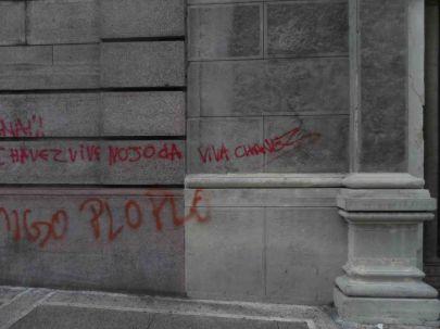 Catedral Metropolitana de Mérida, vandalizada. Foto Frank Gavidia.