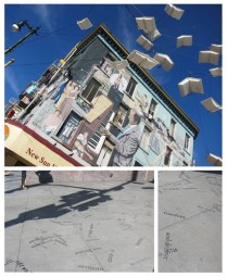 words falling out of the flying books @north beach. like!