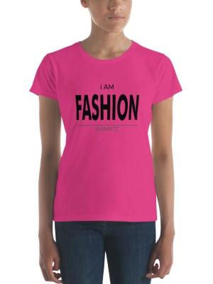 i AM Fashion Light Ladies Ringspun Fashion Fit T-Shirt with Tear Away Label