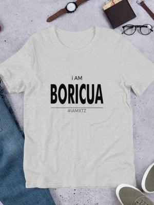 i Am Boricua Light Unisex Short Sleeve Jersey T-Shirt with Tear Away Label