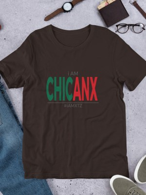 i AM Chicanx Unisex Short Sleeve Jersey T-Shirt with Tear Away Label