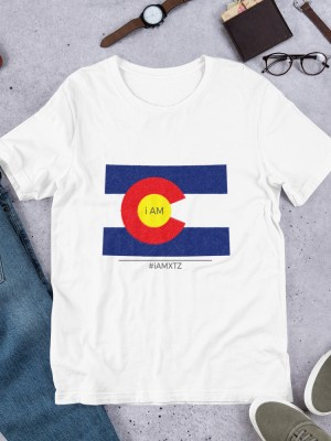 i AM Colorado Unisex Short Sleeve Jersey T-Shirt with Tear Away Label