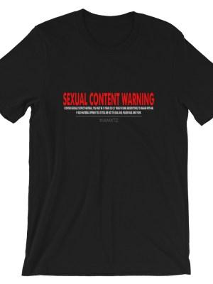 Sexual Content Warning Short-Sleeve Unisex T-Shirt