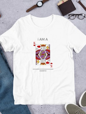 i AM A King of Hearts WHT Short-Sleeve Unisex T-Shirt