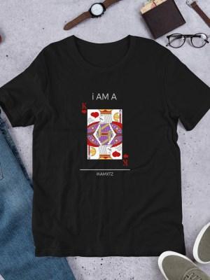 i AM A King of Hearts BLK Short-Sleeve Unisex T-Shirt