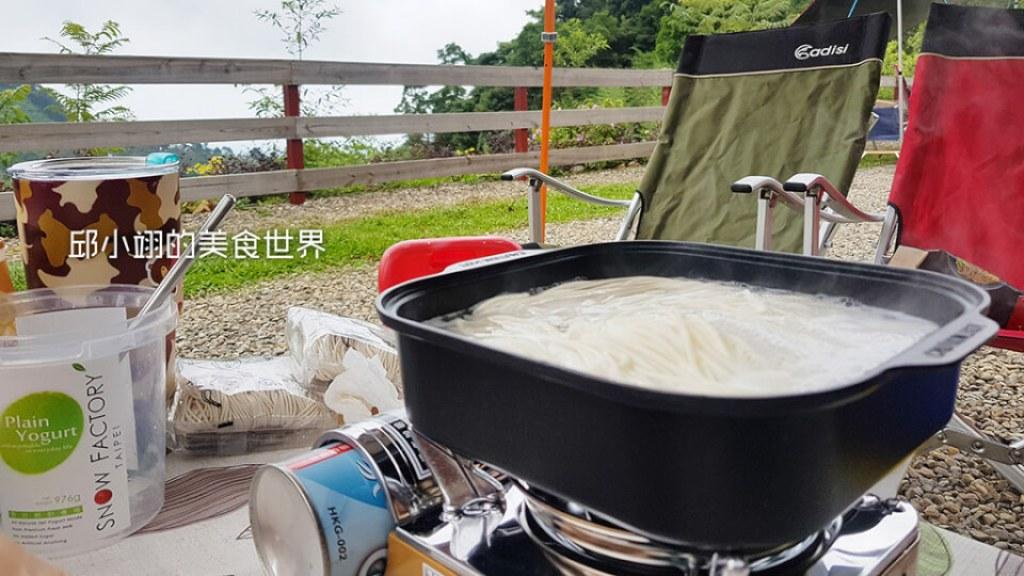 天湖露營最佳美食-老媽拌麵之胡椒麻醬口味