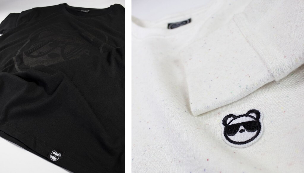 Bear swagger crew neck and screen printed t-shirt