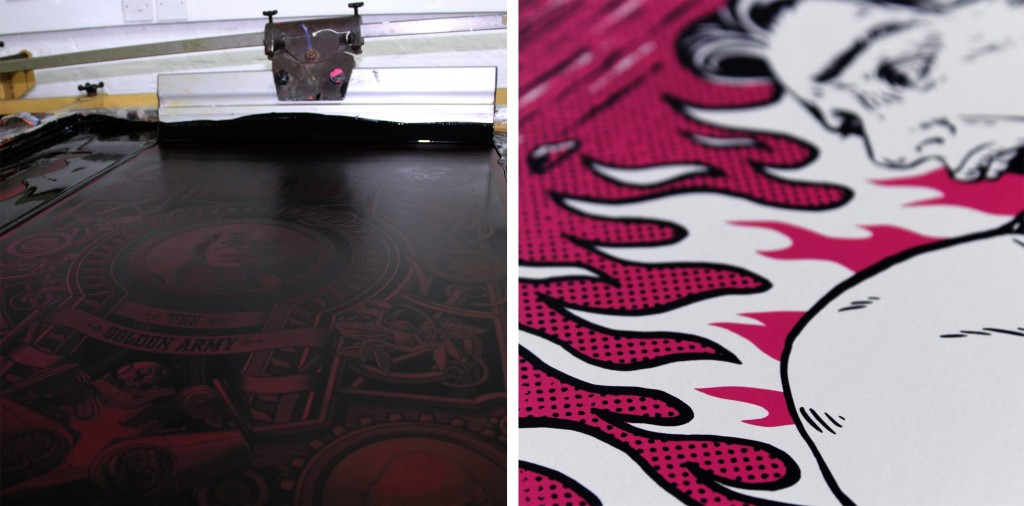 MUTI and Lola Beltran screen prints for The Great Guillermo